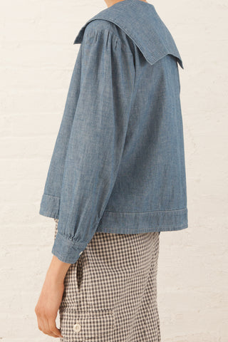 Chimala Sailor Shirt in Chambray | Oroboro | New York, NY