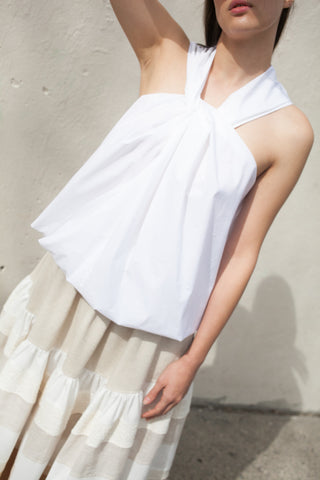 Nehera Bibi Top in White | Oroboro Store | Brooklyn, New York