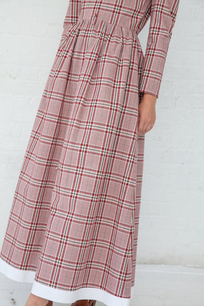 Rejina Pyo Quinn Dress in Cotton Check Red & Cotton Check White | Oroboro Store | New York, NY