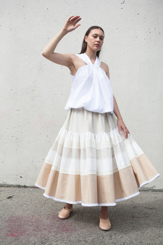 Nehera Sezir Skirt in Light Beige | Oroboro Store | Brooklyn, New York