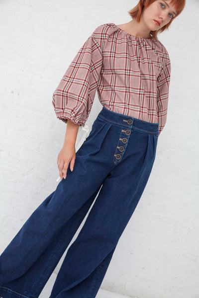 Rejina Pyo Brodie Trousers in Denim Blue | Oroboro Store | New York, NY