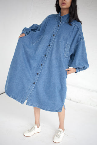 69 Pleated Coat Dress in Medium Light | Oroboro Store | New York