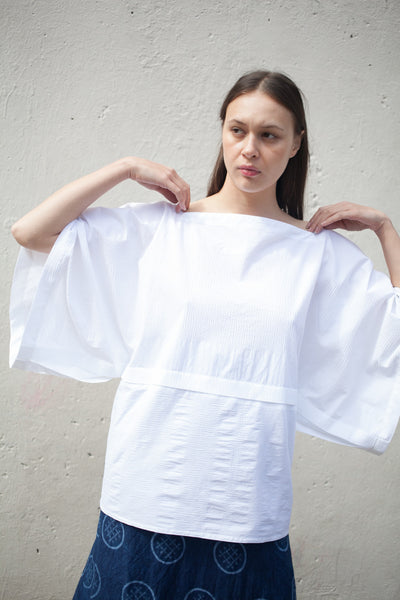Badan Blouse in White