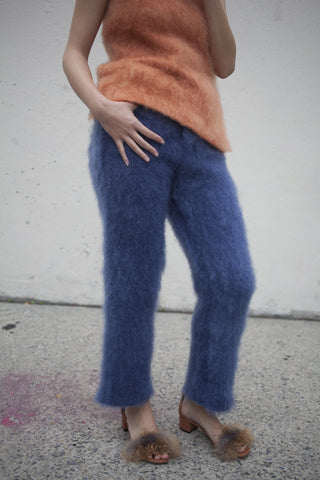 Faustine Steinmetz Handwoven Mohair Jeans in Navy | Oroboro Store | Brooklyn, New York