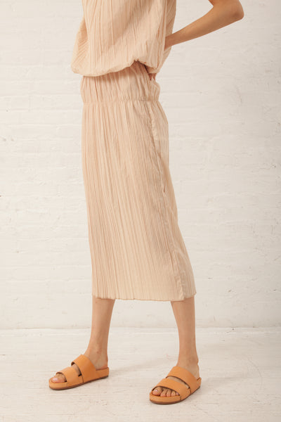 Hache Micro Pleat Skirt in 83 Color | Oroboro Store | New York, NHache Micro Pleat Skirt in Pale Pink | Oroboro Store | New York, NY