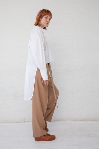 Tomorrowland Tucked Pants in Beige | Oroboro Store | New York, NY