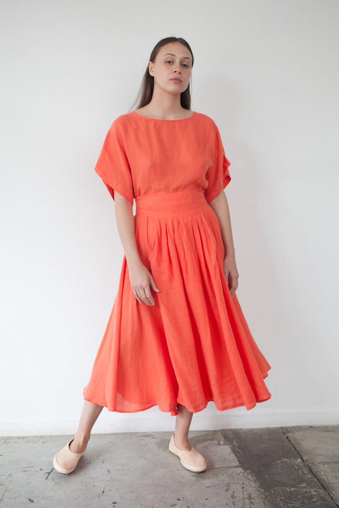 Wrap Skirt in Paprika