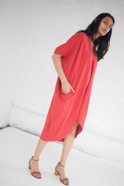 Ruana Dress in Cochineal