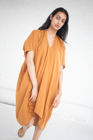 VISVIM Ruana Dress in Orange | Oroboro Store | New York