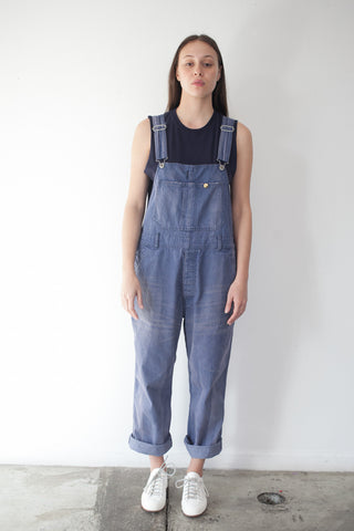 Sulfur Denim Overall in Purplish Blue