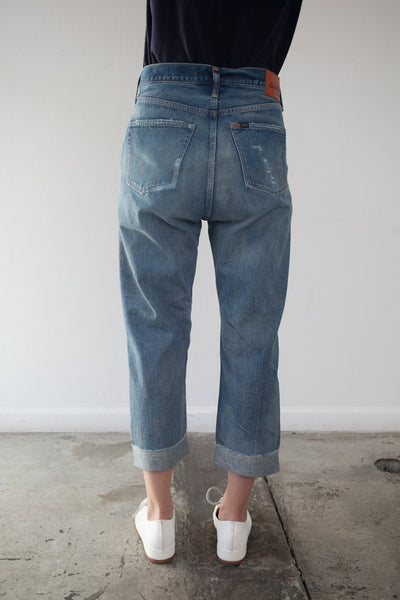 Special Selvedge Denim Wide Tapered Cut in Vintage Repair