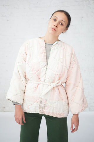 CMC Quilted Jacket XV with Belt in Pink | Oroboro Store | New York, NY