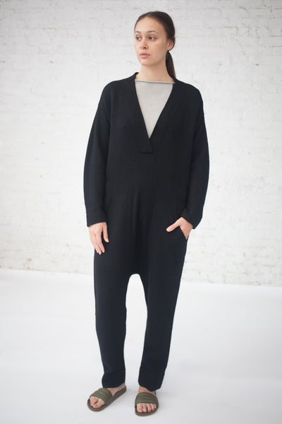 Lauren Manoogian Utility Jumpsuit in Black | Oroboro Store | New York, NY