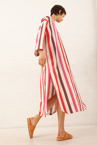 Caftan in Pink Stripe