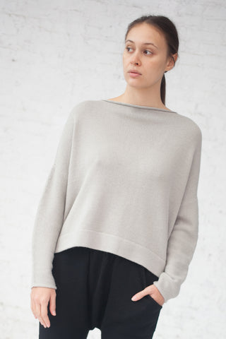 Lauren Manoogian Boatneck Pullover in Cement | Oroboro Store | New York, NY