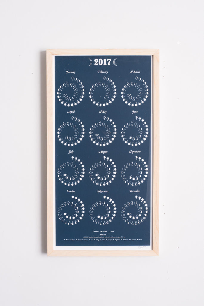 2017 Moon Calendar in Night Sky | Oroboro Store | Brooklyn, New York