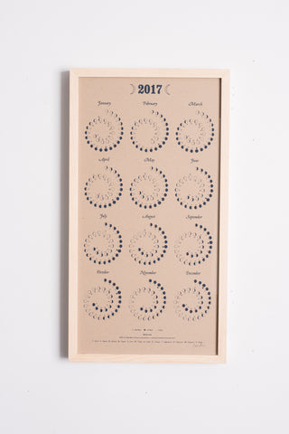 2017 Moon Calendar in Natural | Oroboro Store | Brooklyn, New York