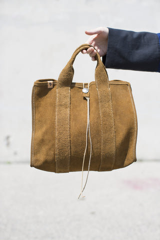 Visvim Teton Tote Bag in Brown Suede | Oroboro Store | Brooklyn, NY