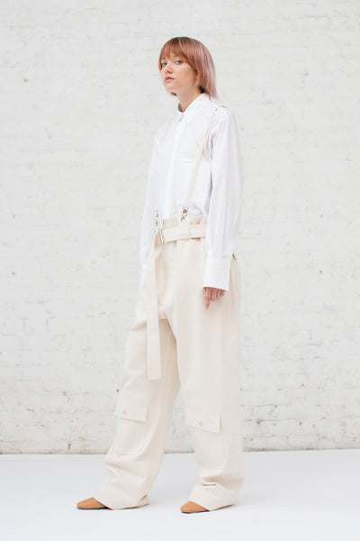 Nehera Poco Trousers in Light Ivory | Oroboro Store | New York, NY