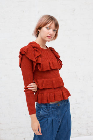 Ulla Johnson Mabel Pullover in Crimson | Oroboro Store | New York, NY