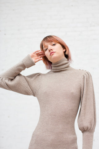 Ulla Johnson Brynn Turtleneck in Oatmeal | Oroboro Store | New York, NY