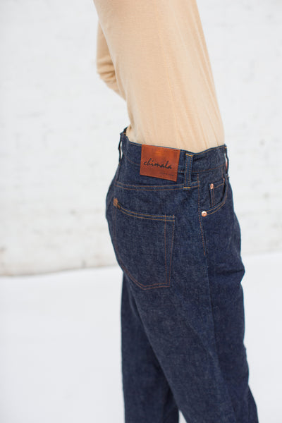Selvedge Denim Wide Tapered Cut in Rinse