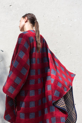 A Detacher Carrick Cape in Plaid Wool Coating | Oroboro Store | New York, NY