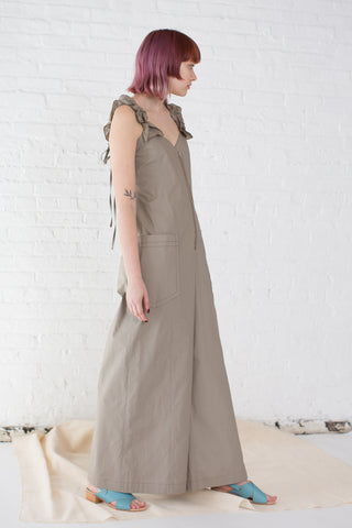 Hache Overalls in Khaki | Oroboro Store | Brooklyn, New York