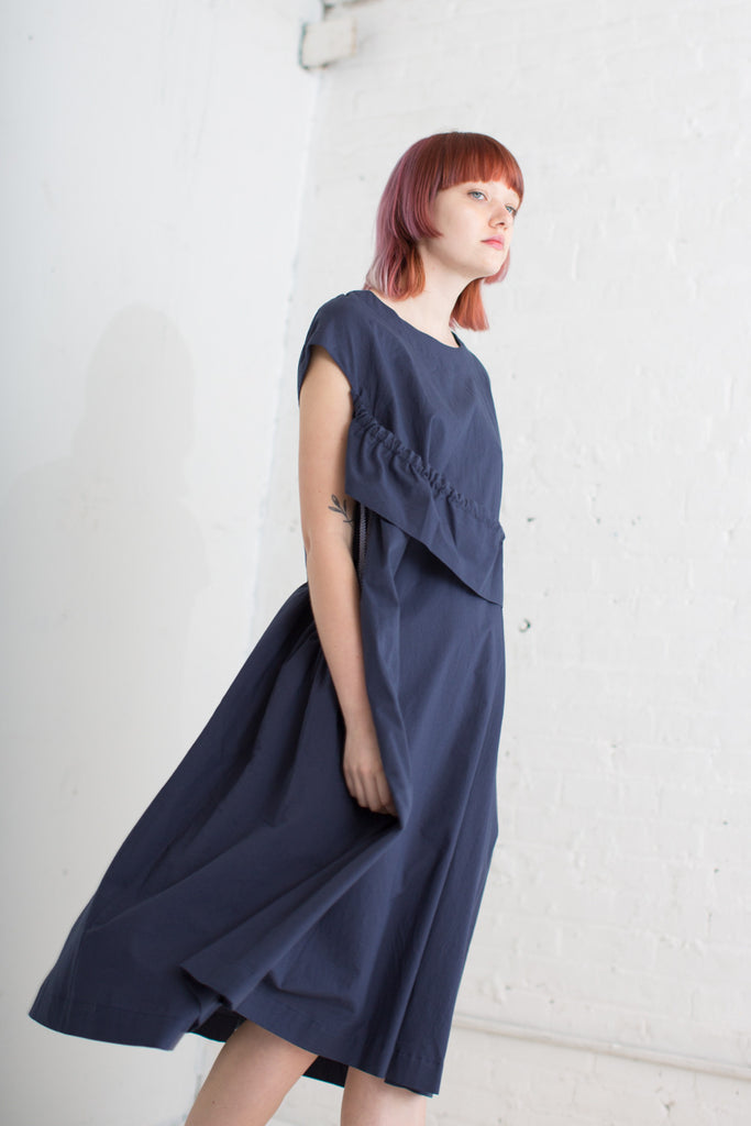 Eatable of Many Orders Cats Cradle Dress in Navy | Oroboro Store | Brooklyn, New York