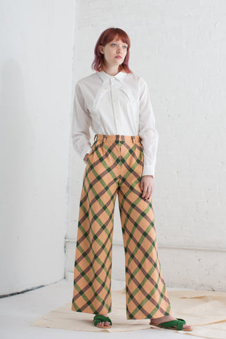 Eatable of Many Orders Trenette Pants in Lasagna Check | Oroboro Store | Brooklyn, New York