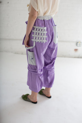 Bernhard Willhelm Gathered Pant in Lilac | Oroboro Store | Brooklyn, New York