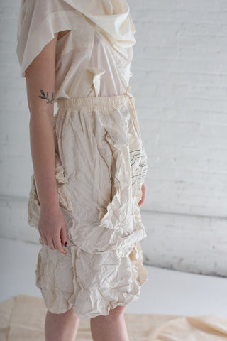 Bernhard Willhelm Skirt in Ecru | Oroboro Store | Brooklyn, New York