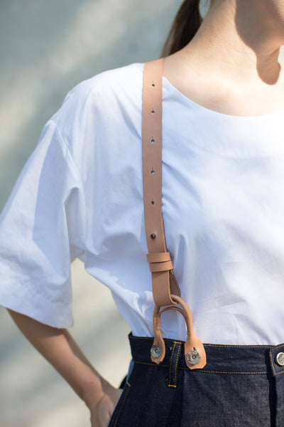 Eatable of Many Orders Suspenders in Natural | Oroboro Store | New York, NY