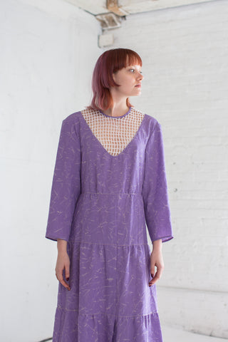 Veronique Leroy Dress with Net Modesty in Lilac | Oroboro Store | Brooklyn, New York