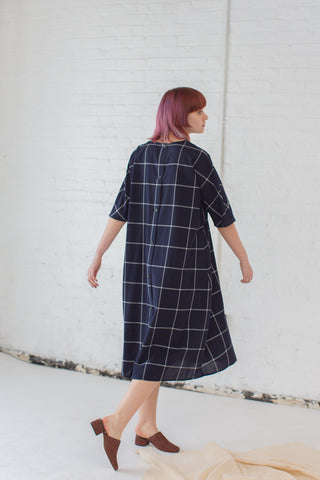 Samuji Chouko Dress in Navy/White | Oroboro Store | Brooklyn, New York