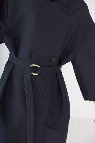 Winka Coat in Dark Navy