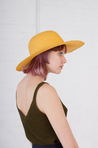 Donna Straw Hat in Yellow