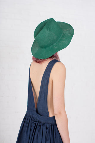 Reinhard Plank Laila Open Straw Hat in Green | Oroboro Store | Brooklyn, New York