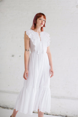 Ulla Johnson Vera Dress in Blanc | Oroboro Store | Brooklyn, New York