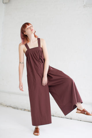 Ulla Johnson Rafaella Jumpsuit in Raisin | Oroboro Store | Brooklyn, New York