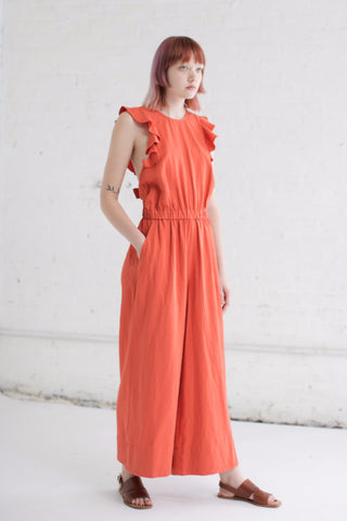 Ulla Johnson Viola Jumpsuit in Chili | Oroboro Store | Brooklyn, New York