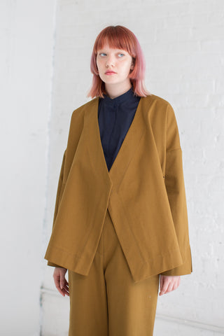 Studio Nicholson Cencio Jacket in Carob | Oroboro Store | Brooklyn, New York