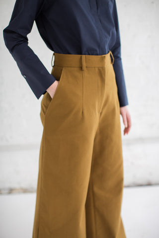 Studio Nicholson Battista Pant in Carob | Oroboro Store | Brooklyn, New York