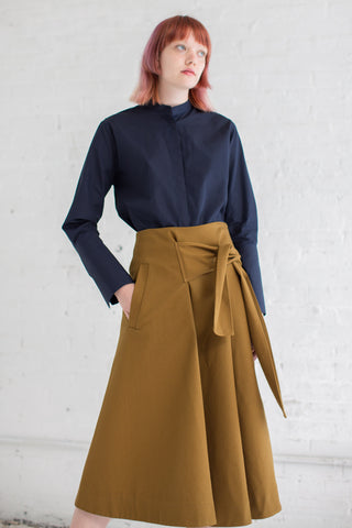 Studio Nicholson Benito Skirt in Carob | Oroboro Store | Brooklyn, New York