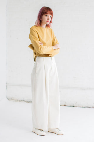 Studio Nicholson Bonnard Pant in Ivory | Oroboro Store | Brooklyn, New York