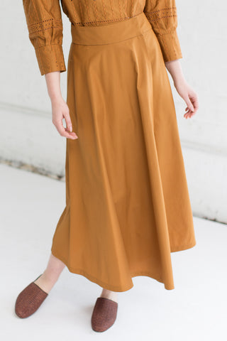 Veronique Leroy Open Front Skirt in Rust | Oroboro Store | Brooklyn, New York