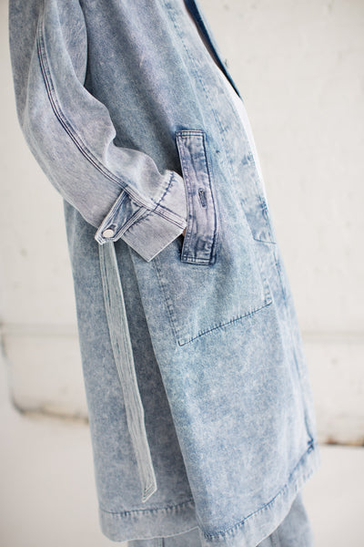 Long Trench in Light Blue