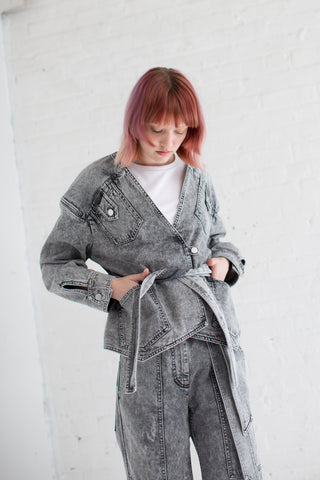 Veronique Leroy Square Jacket in Light Grey | Oroboro Store | Brooklyn, New York