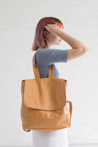 Clyde Room Backpack in Apricot | Oroboro Store | Brooklyn, New York