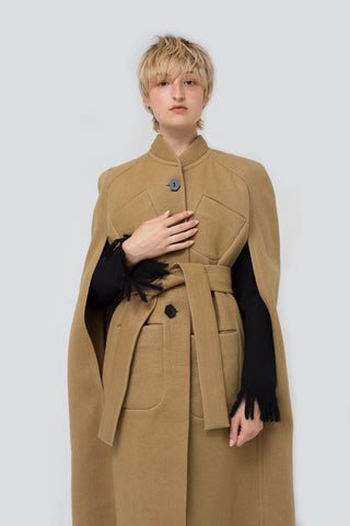 Veronique Leroy Cape in Beige | Oroboro Store | New York, NY